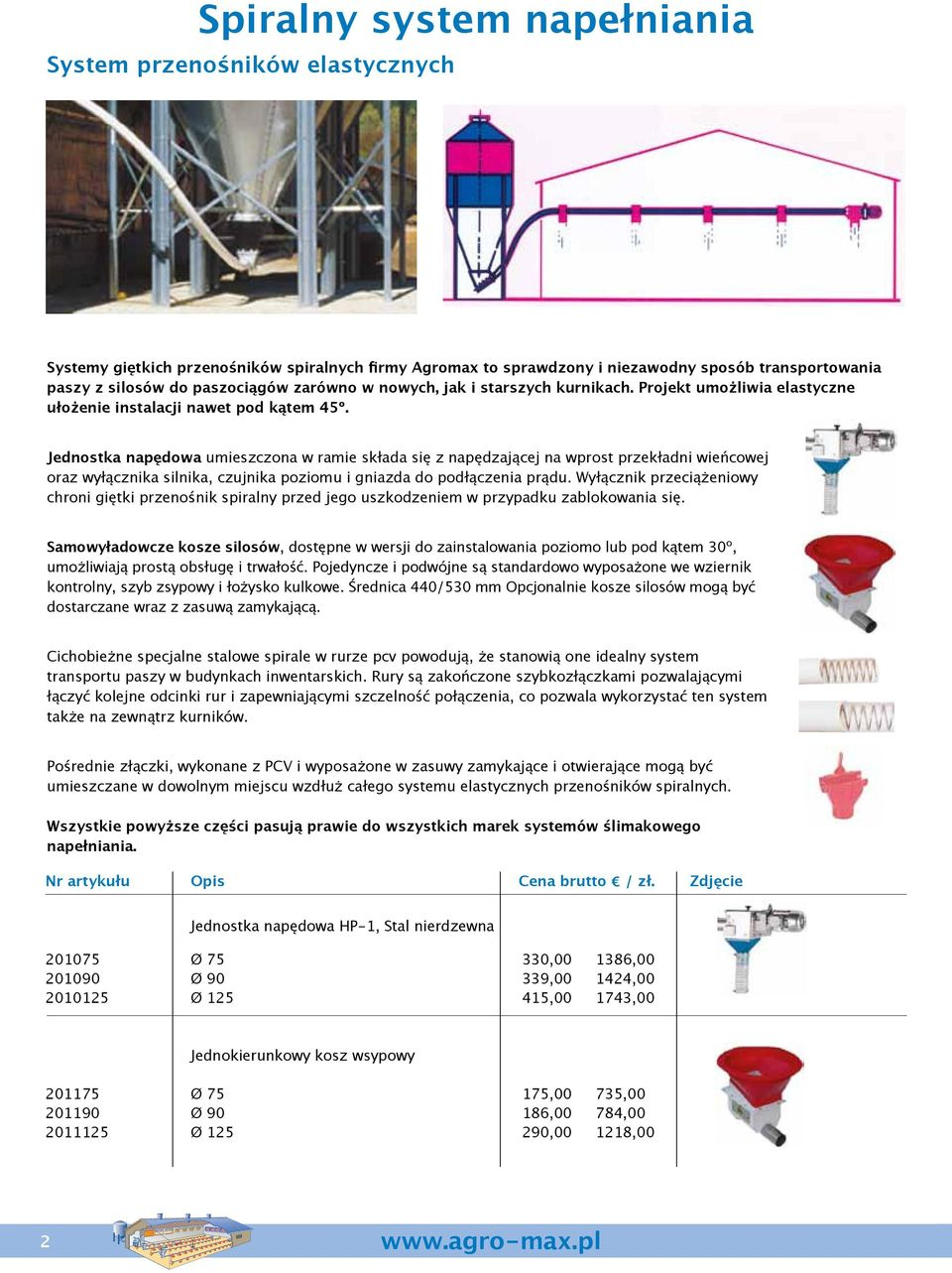 the very reliable Agromax flex design auger systems for have of for proven the transportation to be system very reliable systems enables for transportation of of the the flexible of the feed feed