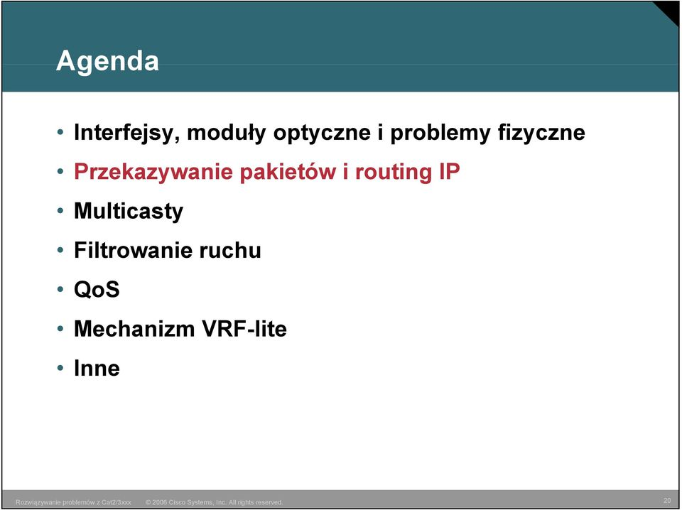 pakietów i routing IP Multicasty