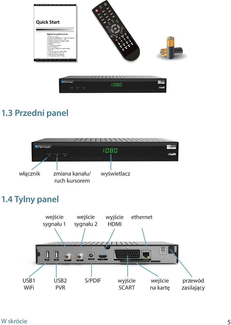 ENGLISH ENGLISH ENGLISH ENGLISH Quick Start Digital Terrestial Receiver Slot for Smart Card Support of SD/HD (MPEG2 / MPEG4) DVB-C systems High definition video output - HDMI Standard resolution