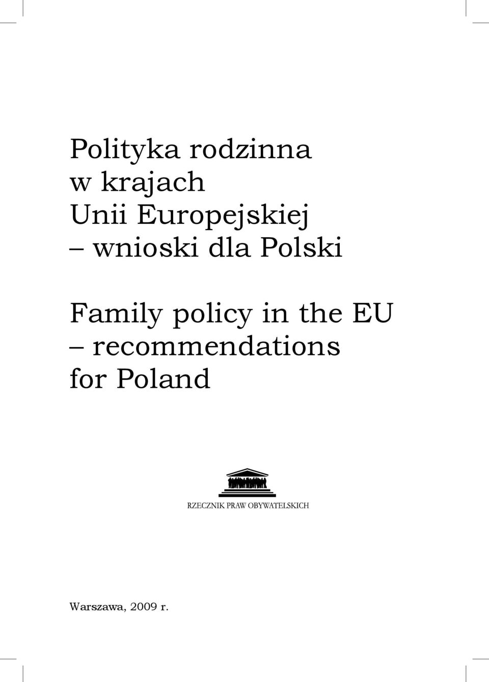 Family policy in the eu