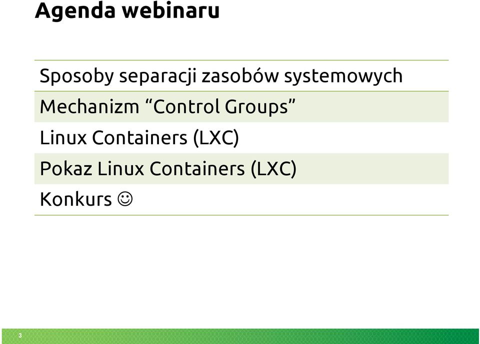 Control Groups Linux Containers