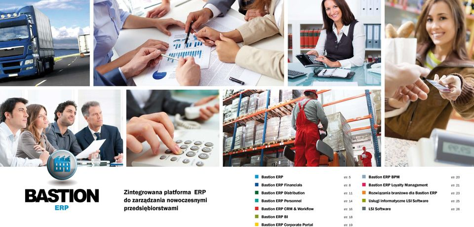 Distribution Bastion ERP Personnel Bastion ERP CRM & Workflow str. 8 str. 11 str. 14 str.