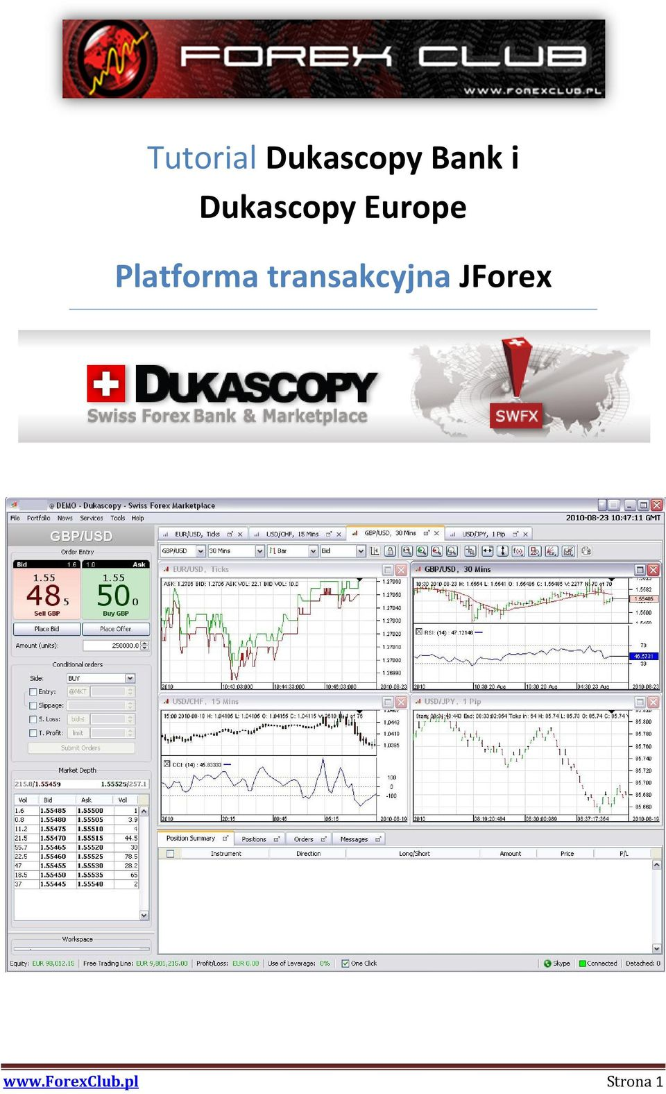 Visual jforex youtube
