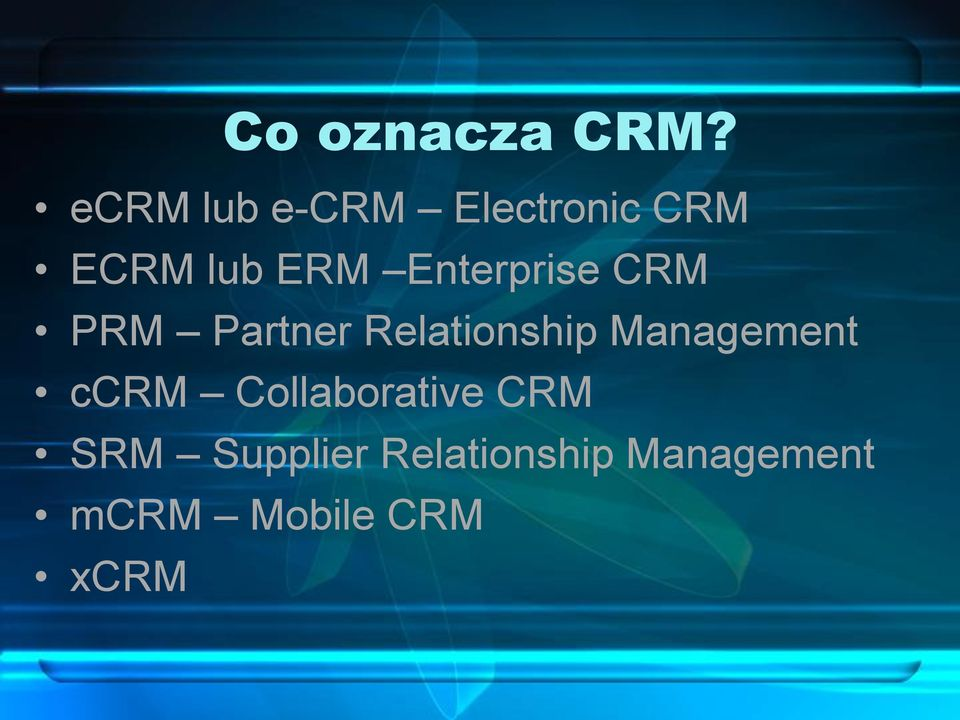 Enterprise CRM PRM Partner Relationship