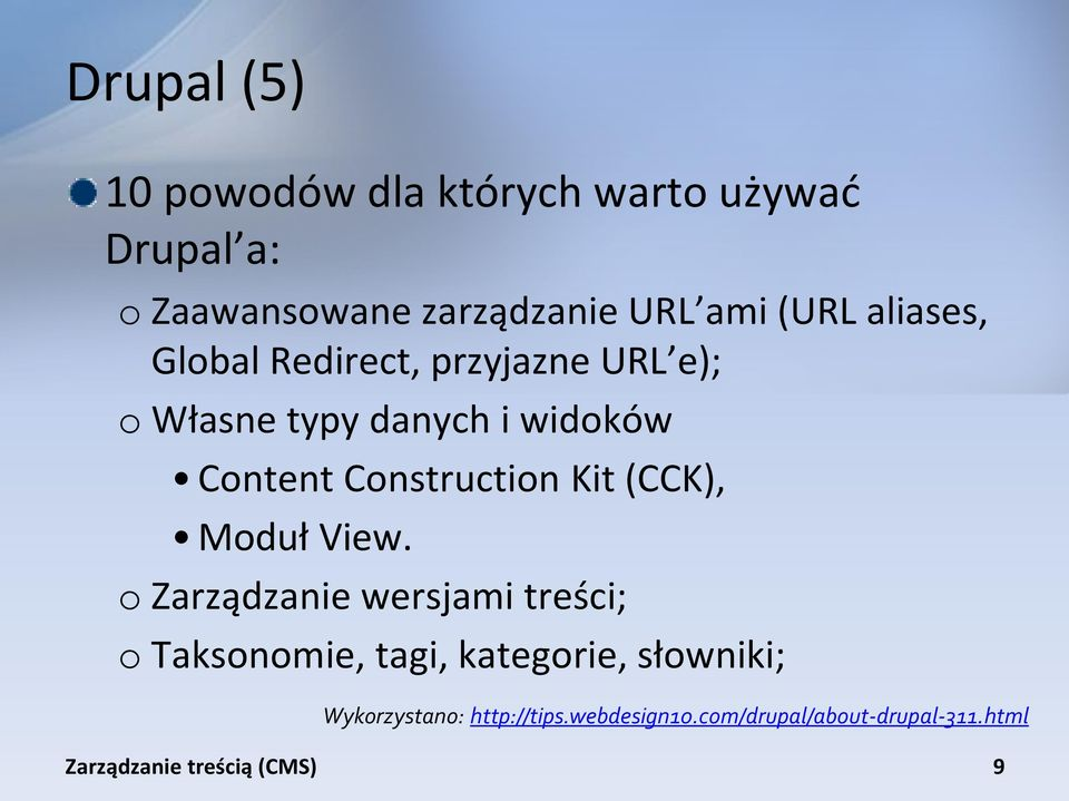 Content Construction Kit (CCK), Moduł View.