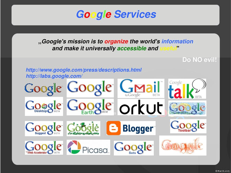 accessible and useful'' http://www.google.