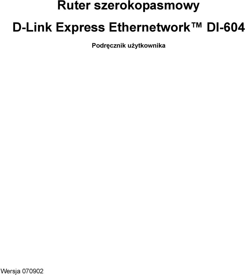 Ethernetwork DI-604