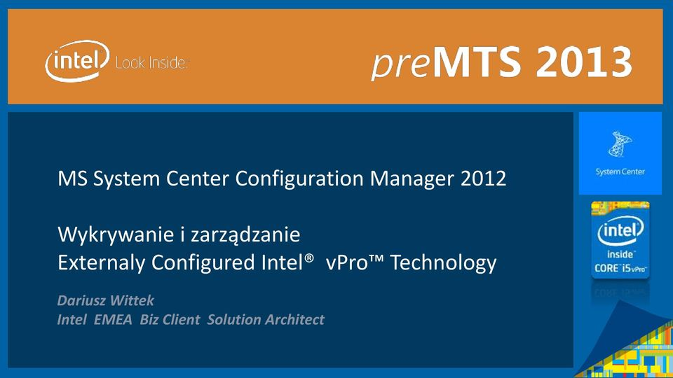 Configured Intel vpro Technology Dariusz