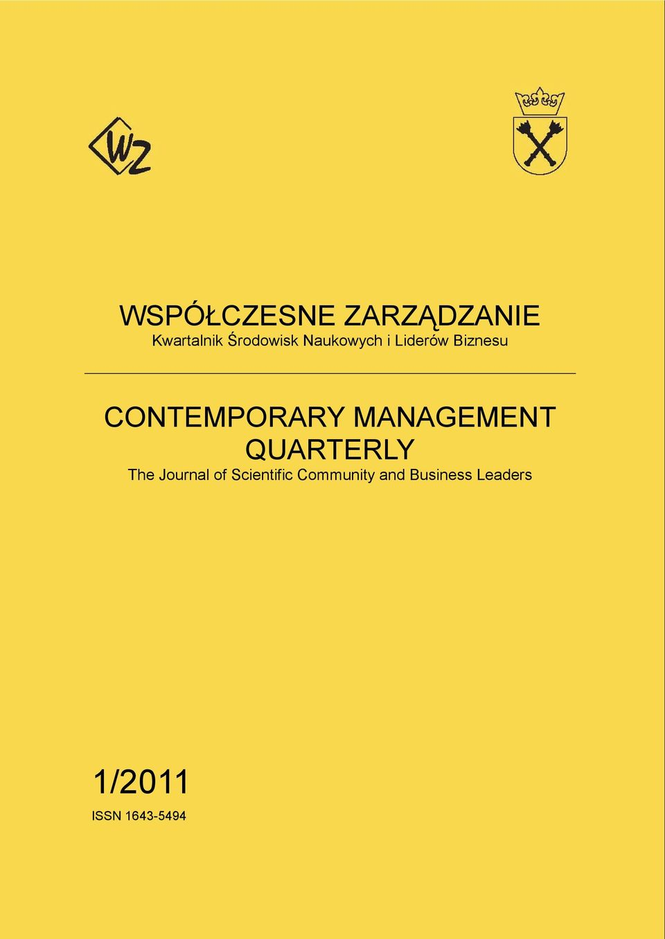 MANAGEMENT QUARTERLY The Journal of Scientific