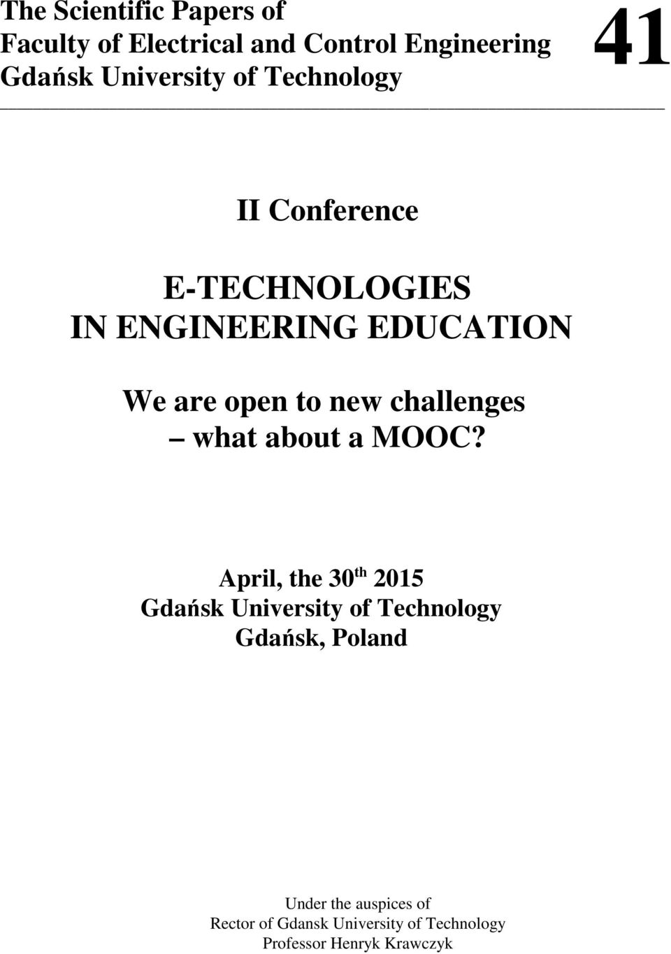 challenges what about a MOOC?