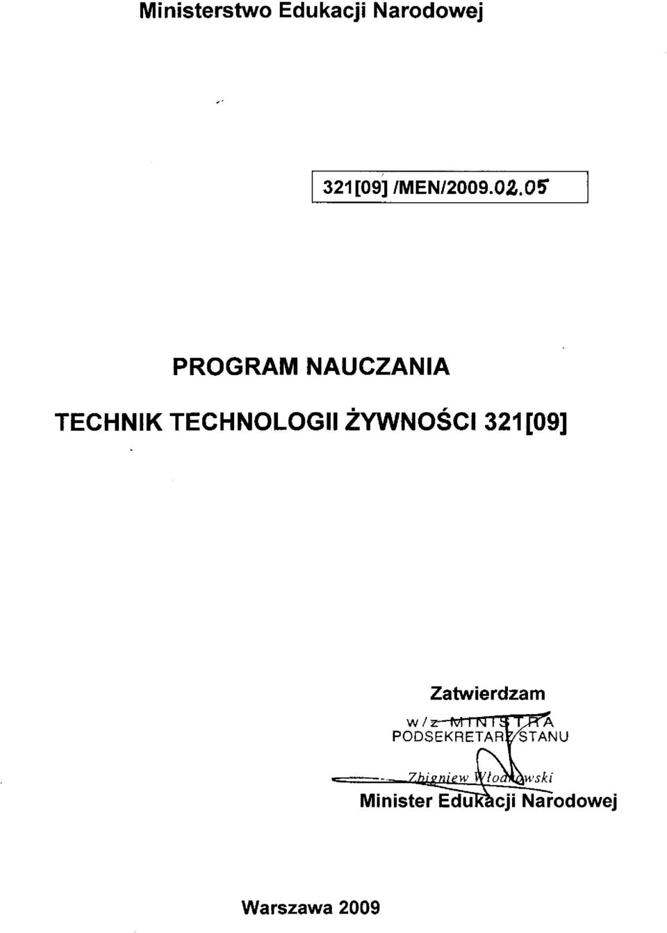 PROGRAM NAUCZANIA TECHNIK