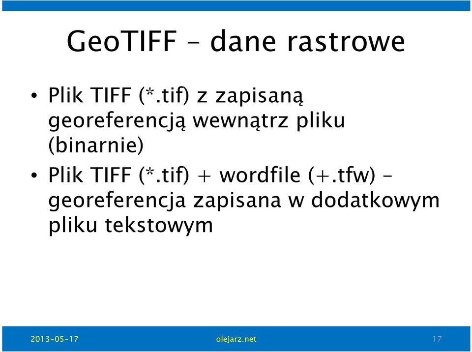 (binarnie) Plik TIFF (*.tif) + wordfile(+.