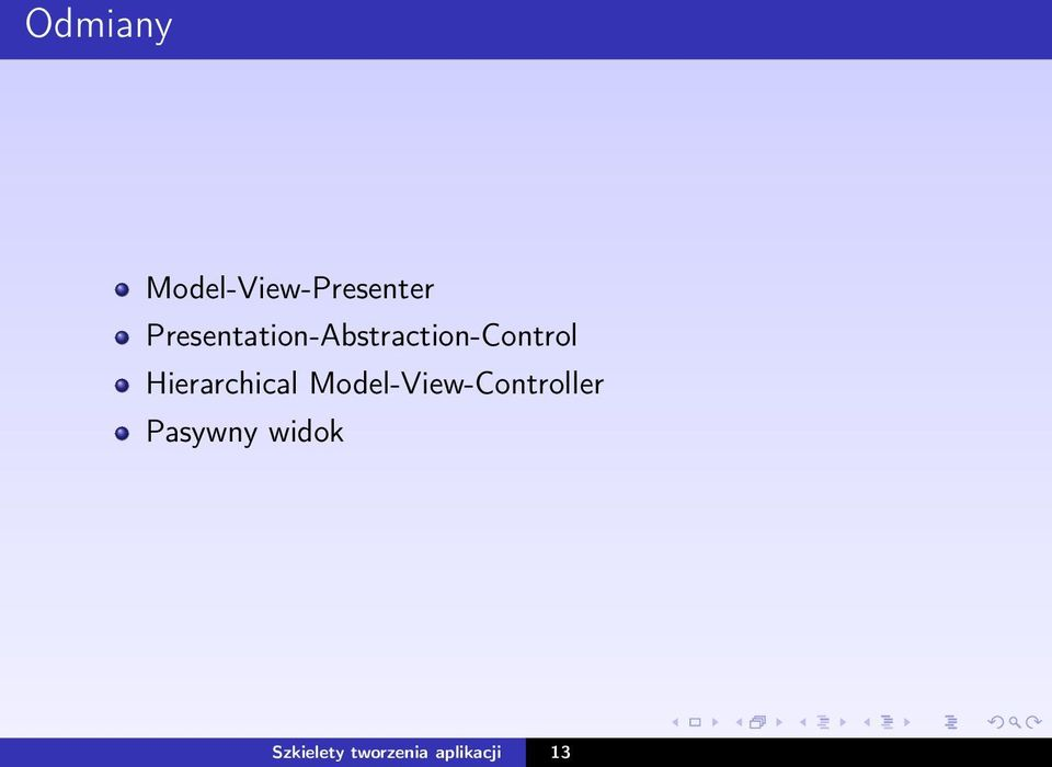 Hierarchical Model-View-Controller