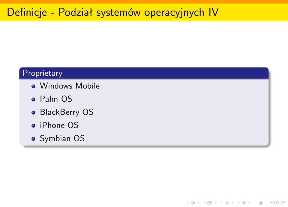Windows Mobile Palm OS