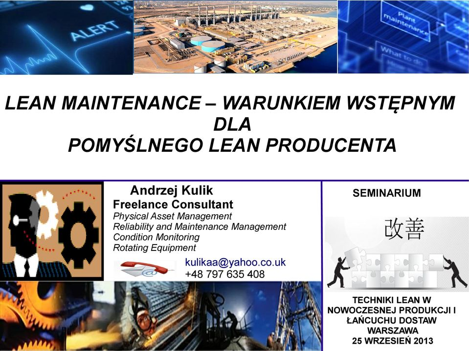 Condition Monitoring Rotating Equipment kulikaa@yahoo.co.