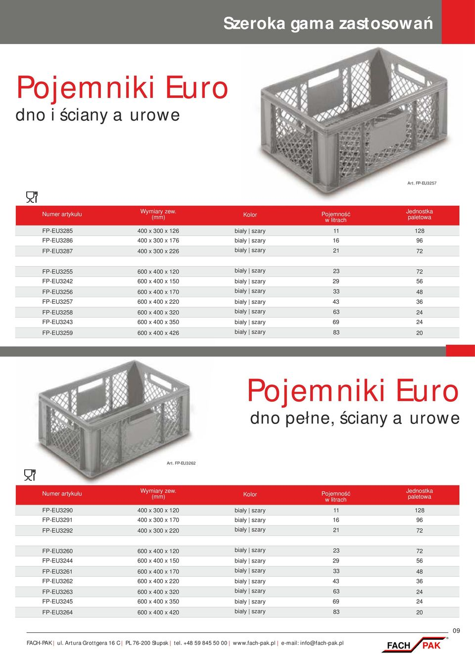 katalog 2015 fach pak opakowania transportowo magazynowe. Black Bedroom Furniture Sets. Home Design Ideas