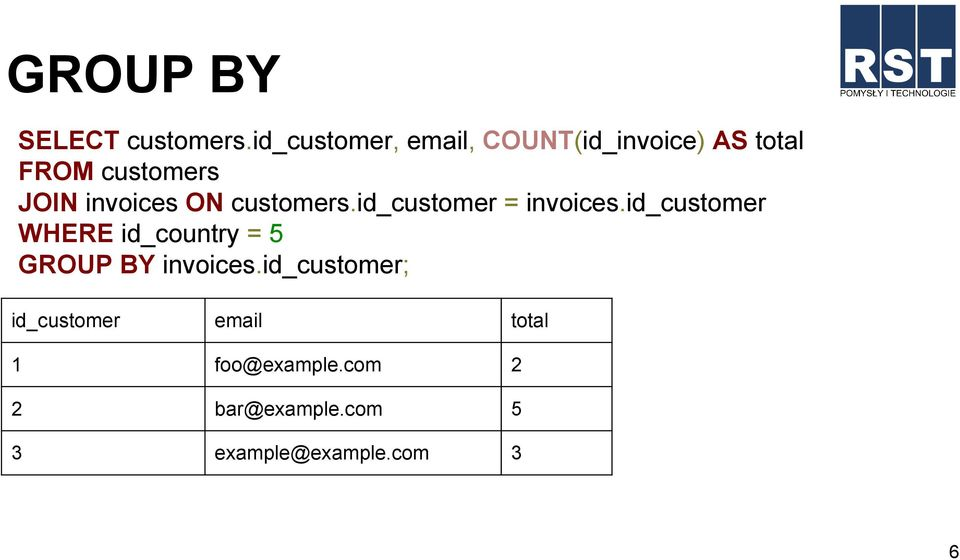 invoices ON customers.id_customer = invoices.