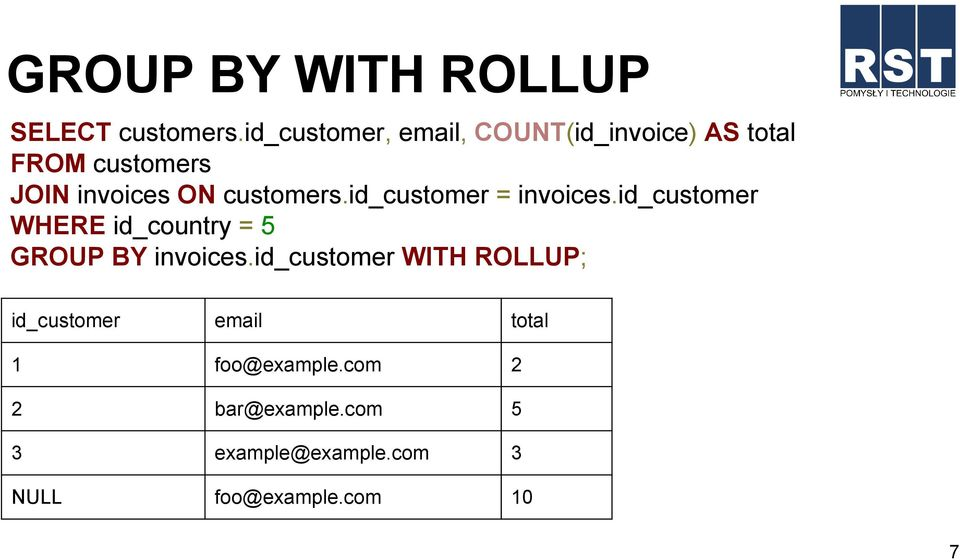 customers.id_customer = invoices.id_customer WHERE id_country = 5 GROUP BY invoices.