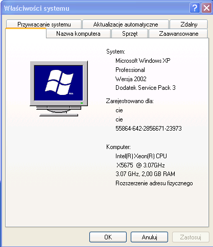 dla Windows XP 32 bit