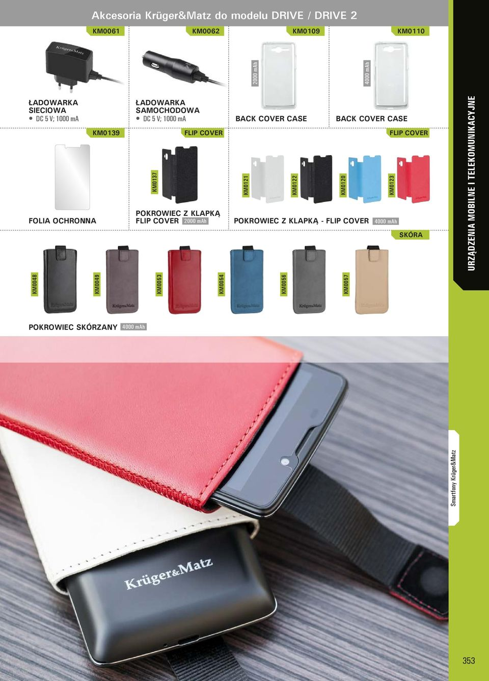 KLAPKĄ FLIP COVER 2000 mah BACK COVER CASE BACK COVER CASE FLIP COVER KM0121 KM0122 KM0120 KM0123