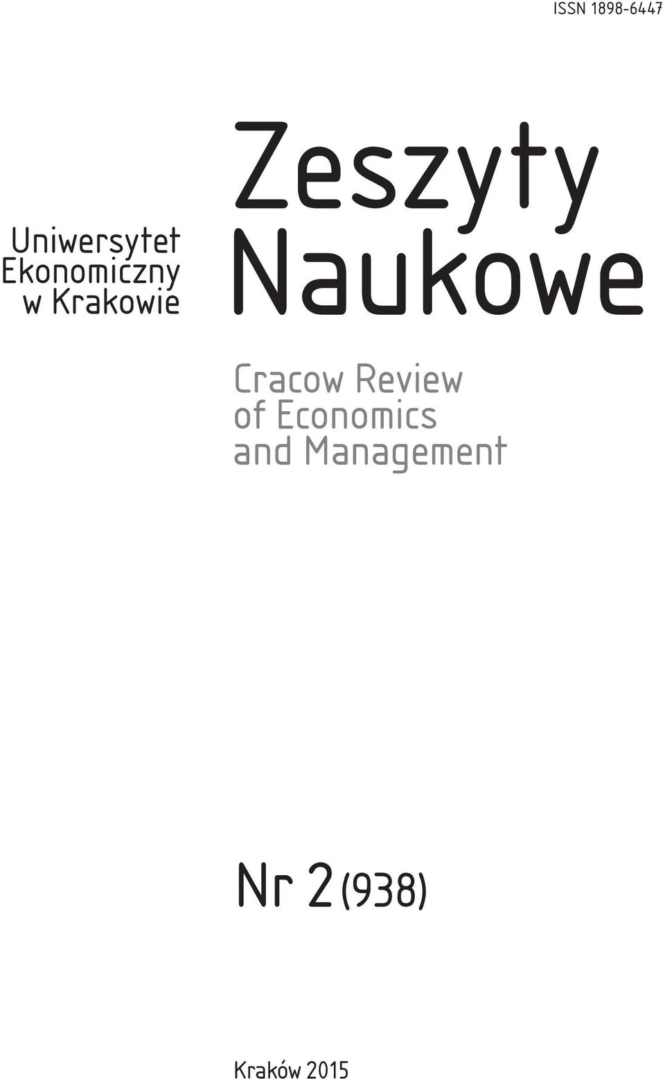 Naukowe Cracow Review of