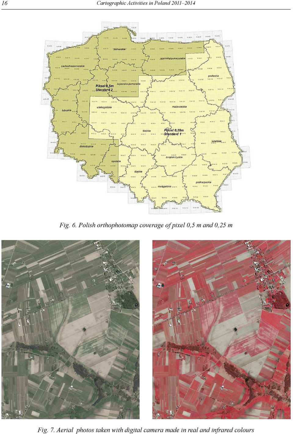Polish orthophotomap coverage of pixel 0,5 m