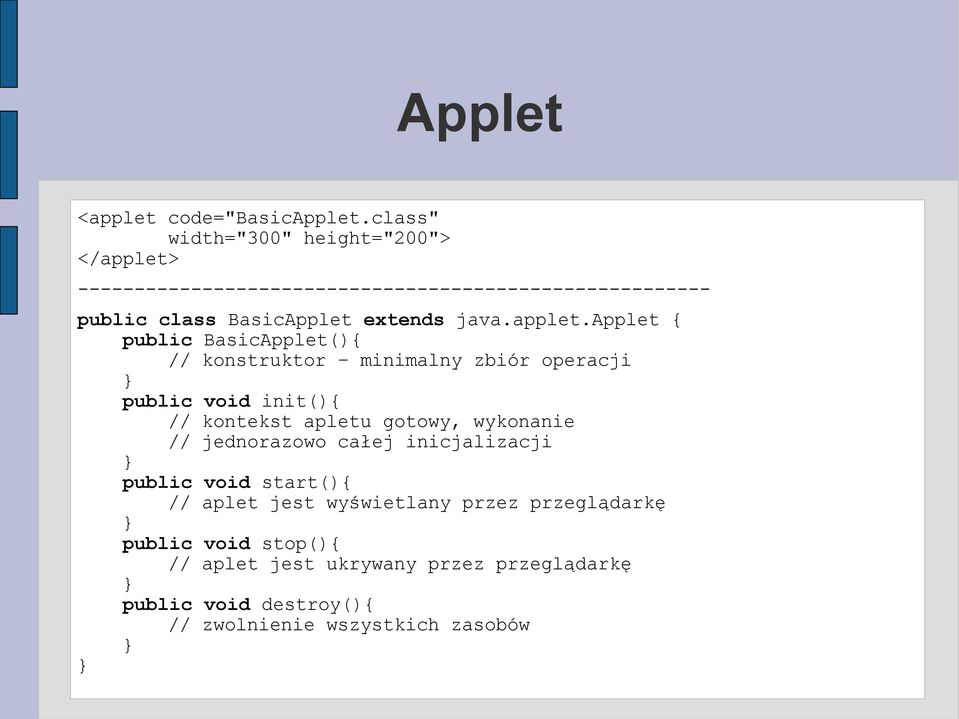 extends java.applet.