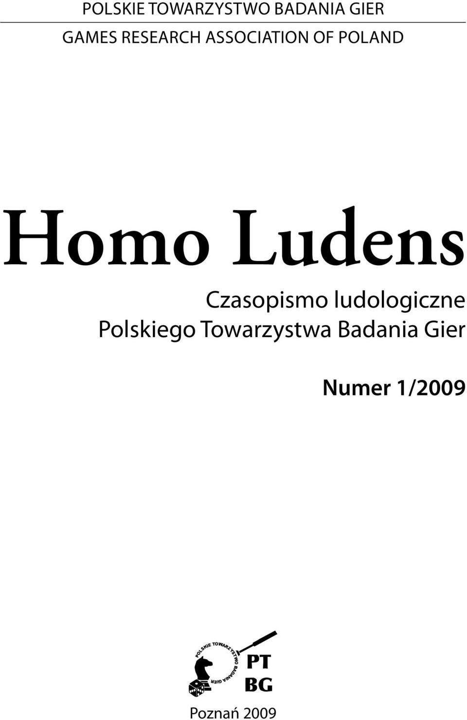 Association of Poland Homo Ludens Czasopismo