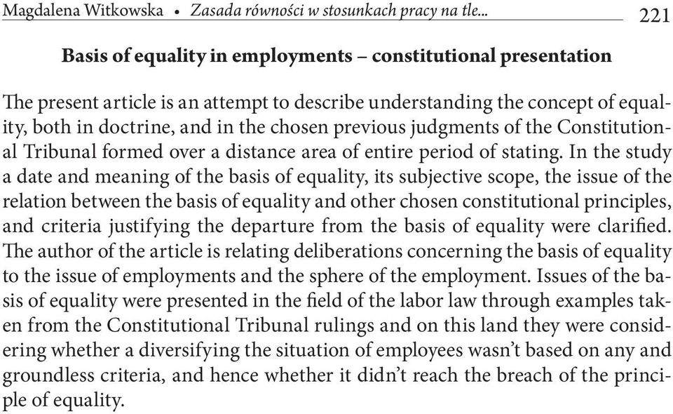 judgments of the Constitutional Tribunal formed over a distance area of entire period of stating.