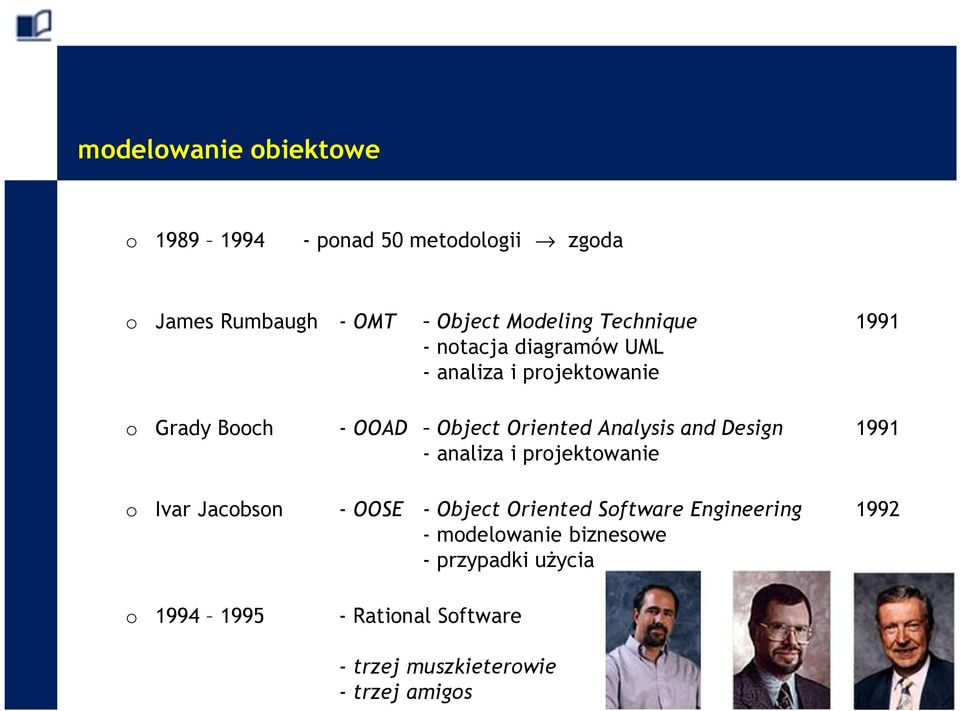 Analysis and Design 1991 - analiza i projektowanie o Ivar Jacobson - OOSE - Object Oriented Software