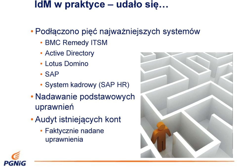 Active Directory Lotus Domino SAP System kadrowy (SAP