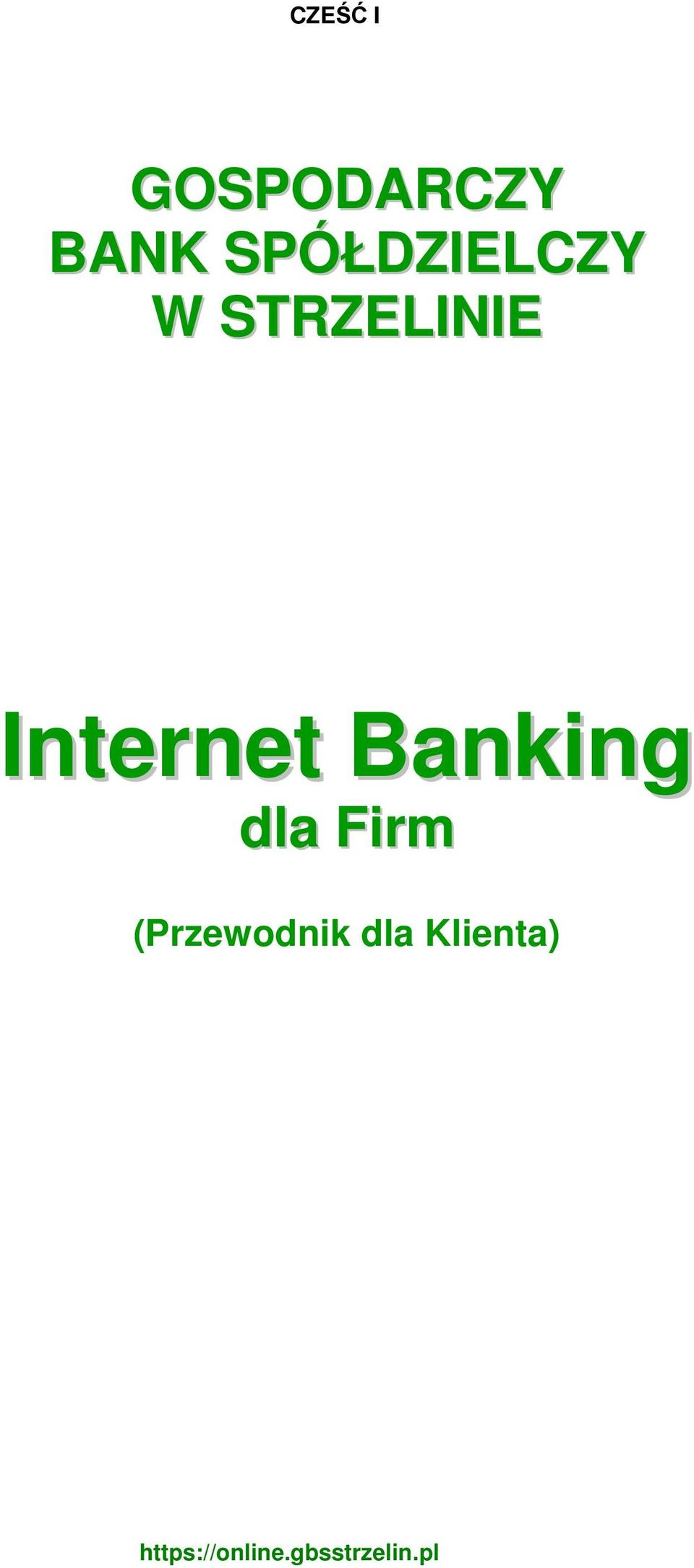 Internet Banking dla Firm