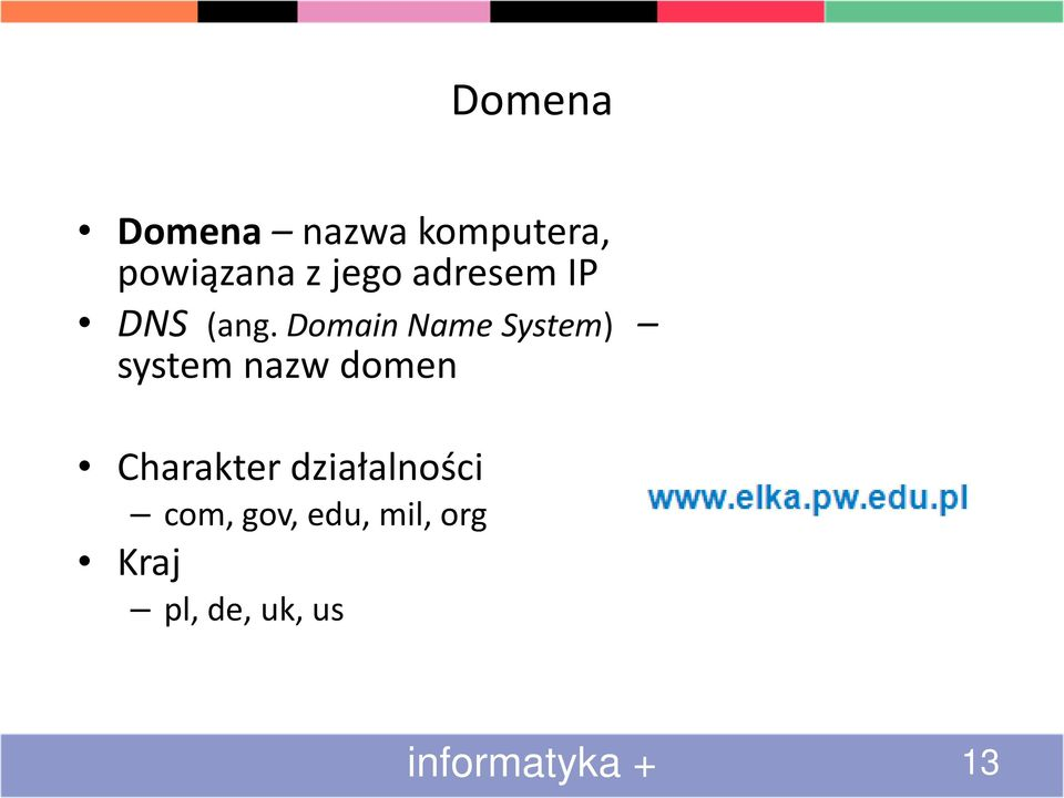 Domain Name System) system nazw domen