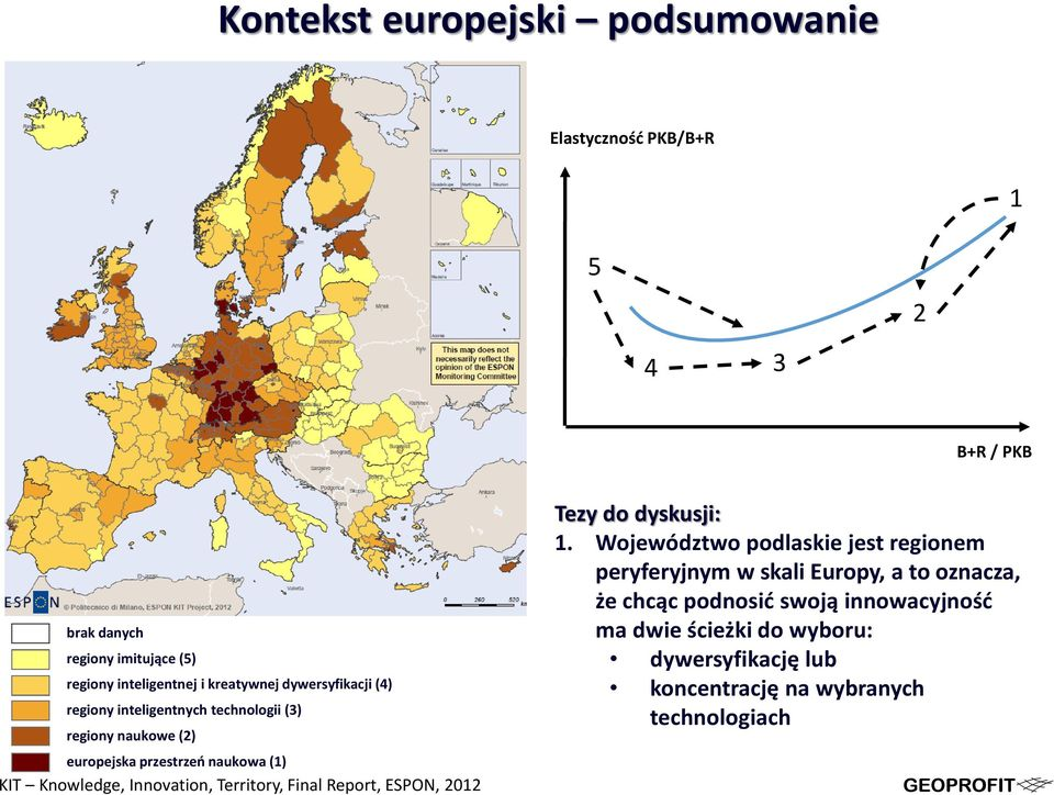 Knowledge, Innovation, Territory, Final Report, ESPON, 2012 Tezy do dyskusji: 1.
