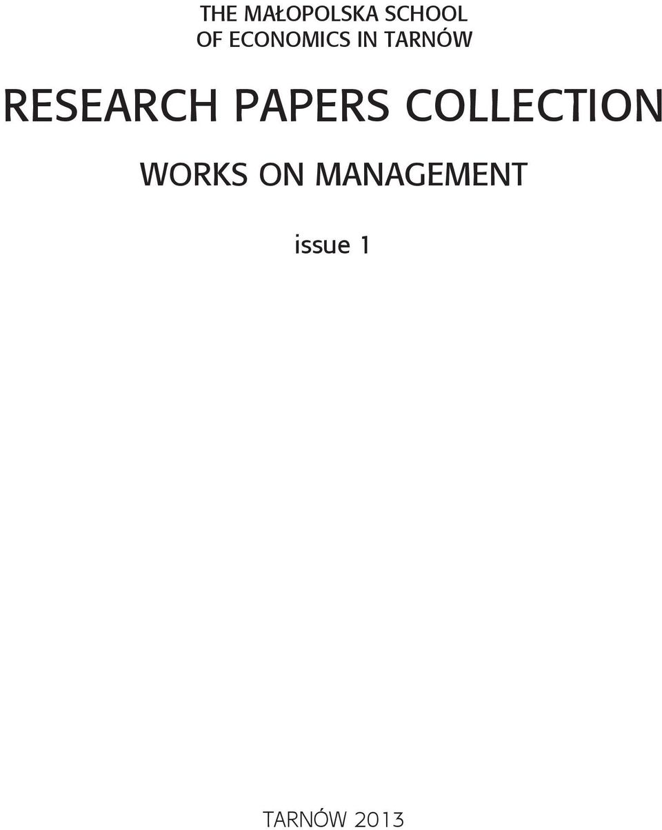 RESEARCH PAPERS COLLECTION