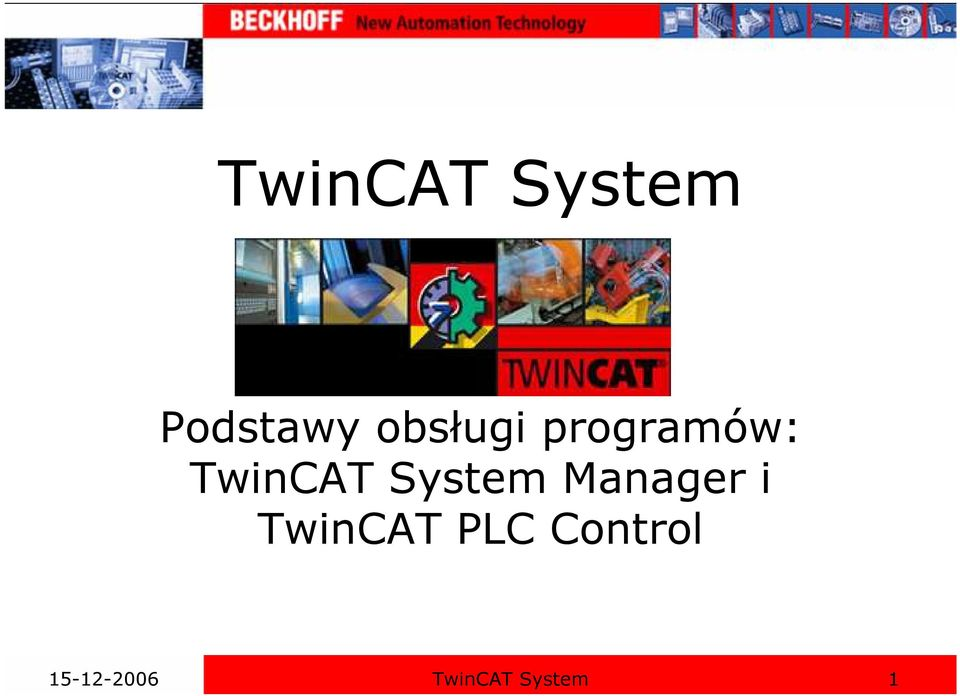 System Manager i TwinCAT PLC