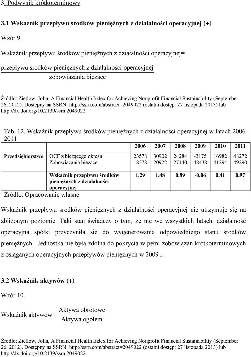 com/abstract=24922 (ostatni dostęp: 27 listopada 213) lub http://dx.doi.org/1.2139/ssrn.24922 Tab. 12.
