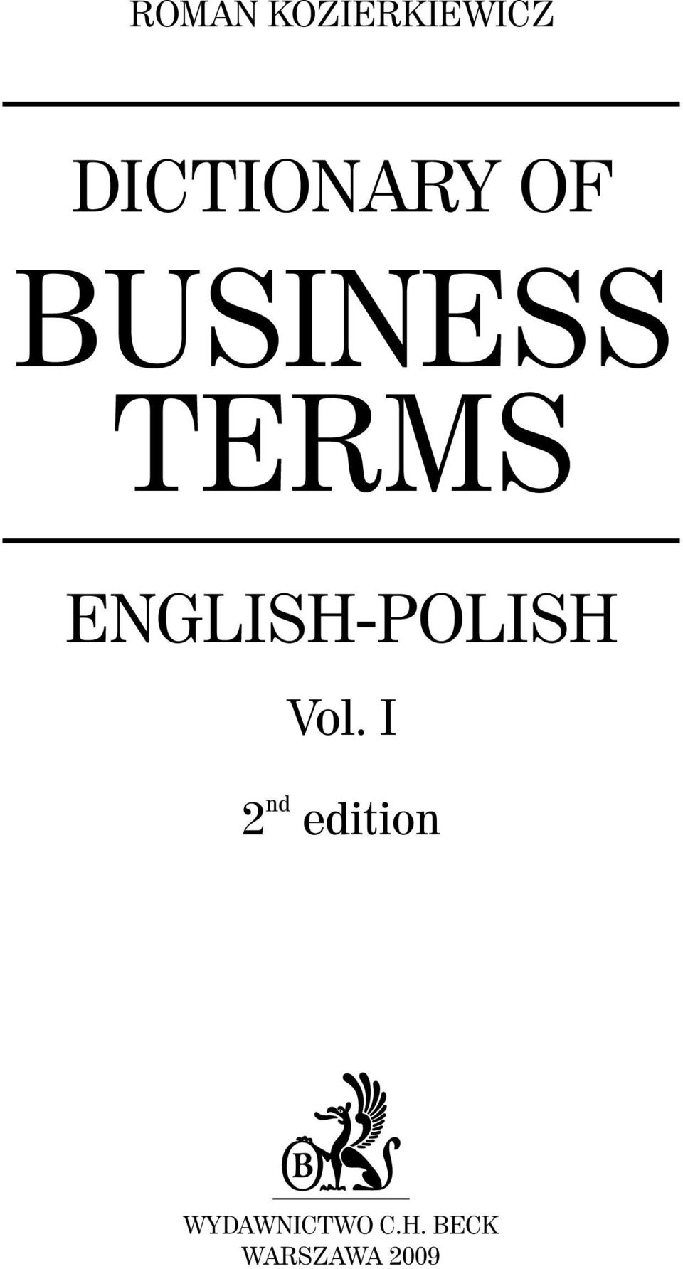 ENGLISH-POLISH Vol.