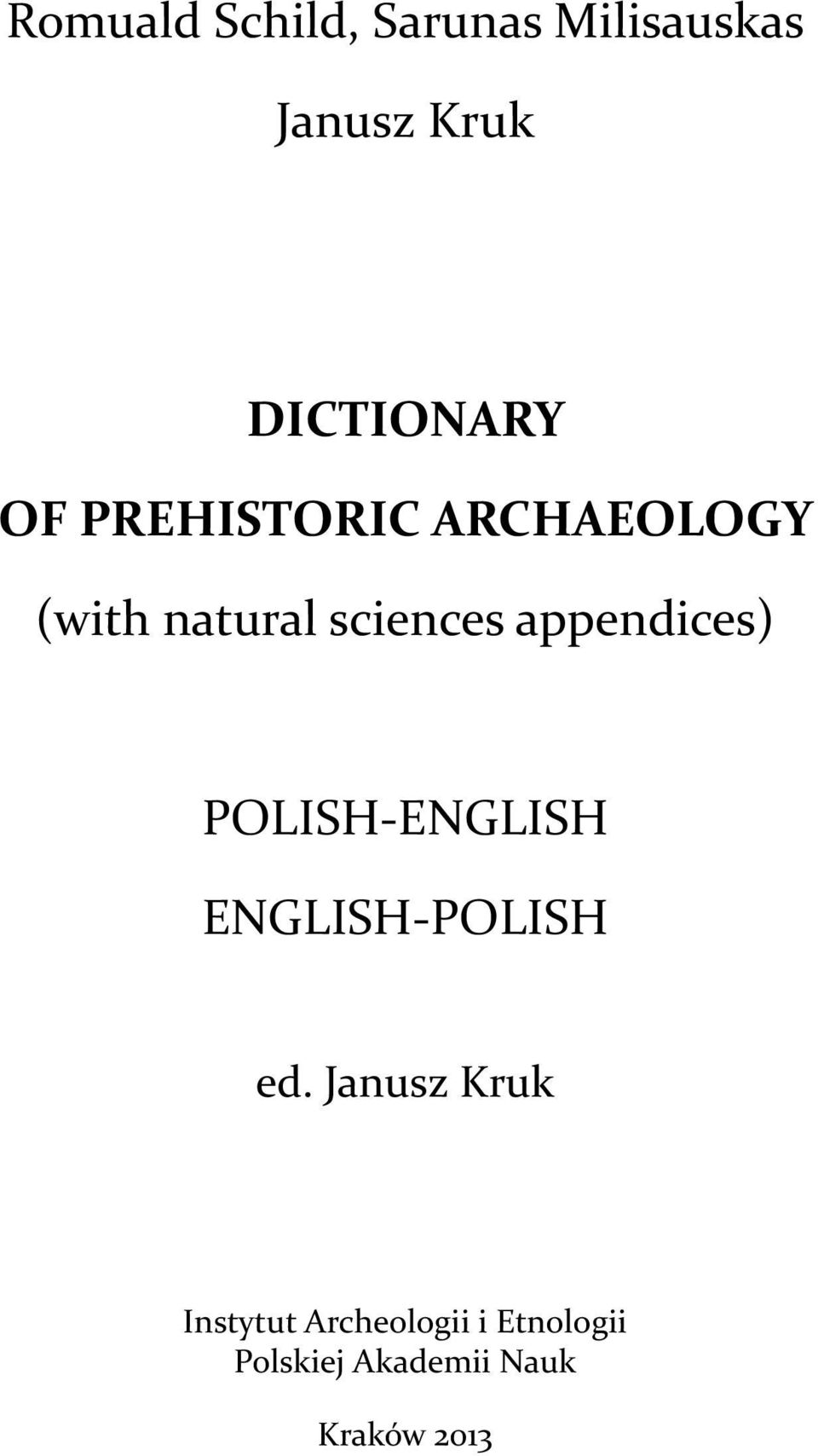 appendices) POLISH-ENGLISH ENGLISH-POLISH ed.