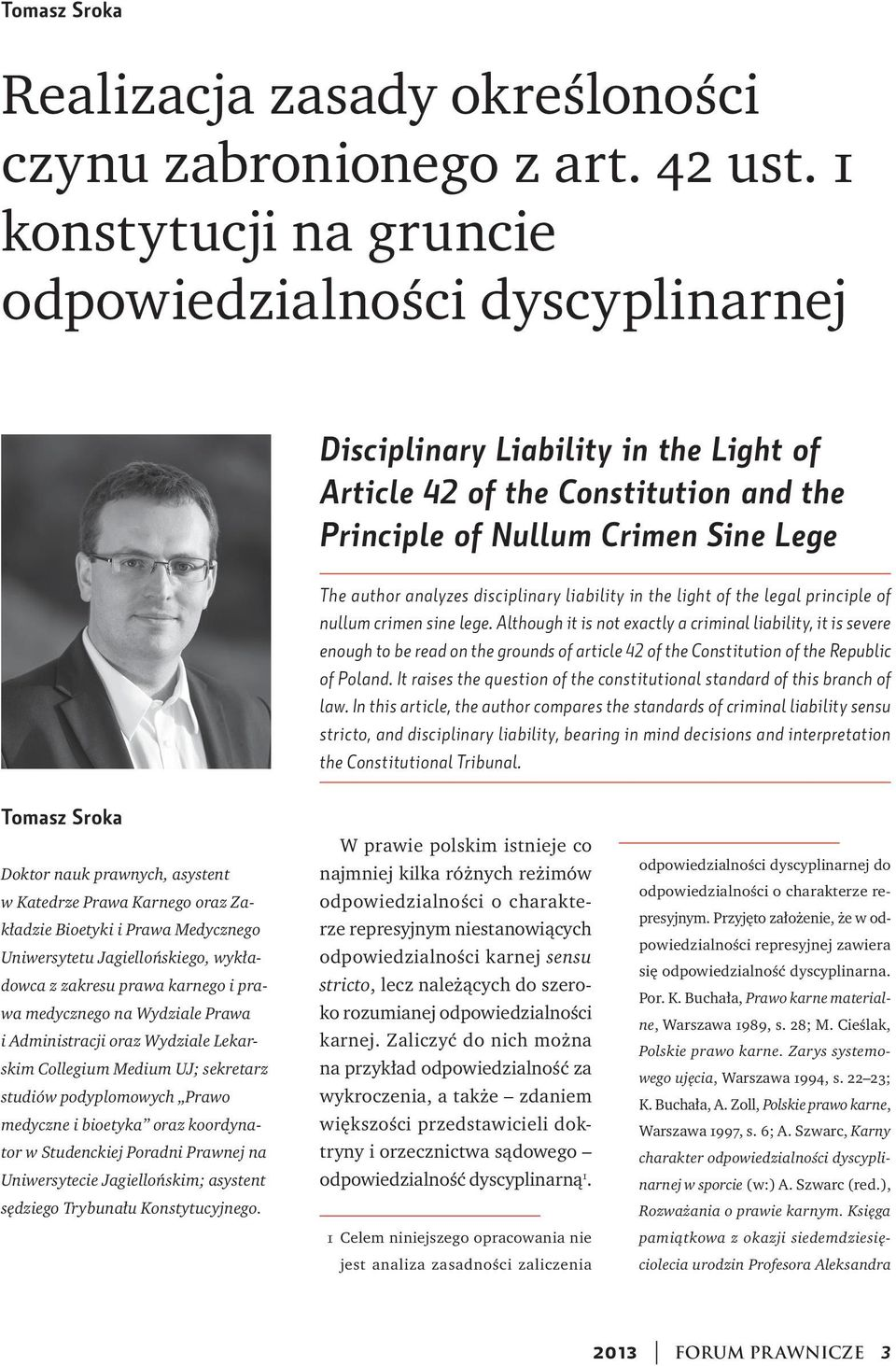 disciplinary liability in the light of the legal principle of nullum crimen sine lege.