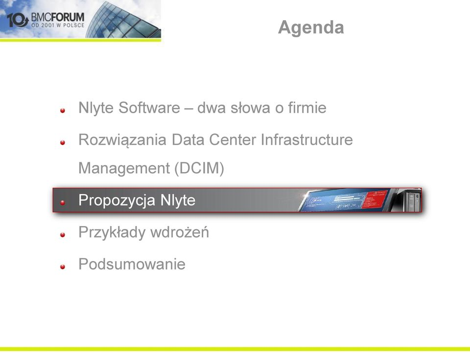 Infrastructure Management (DCIM)