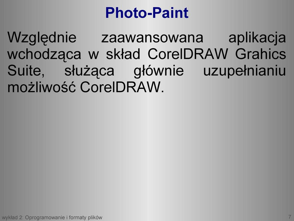 CorelDRAW Grahics Suite, służąca