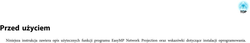 programu EasyMP Network Projection
