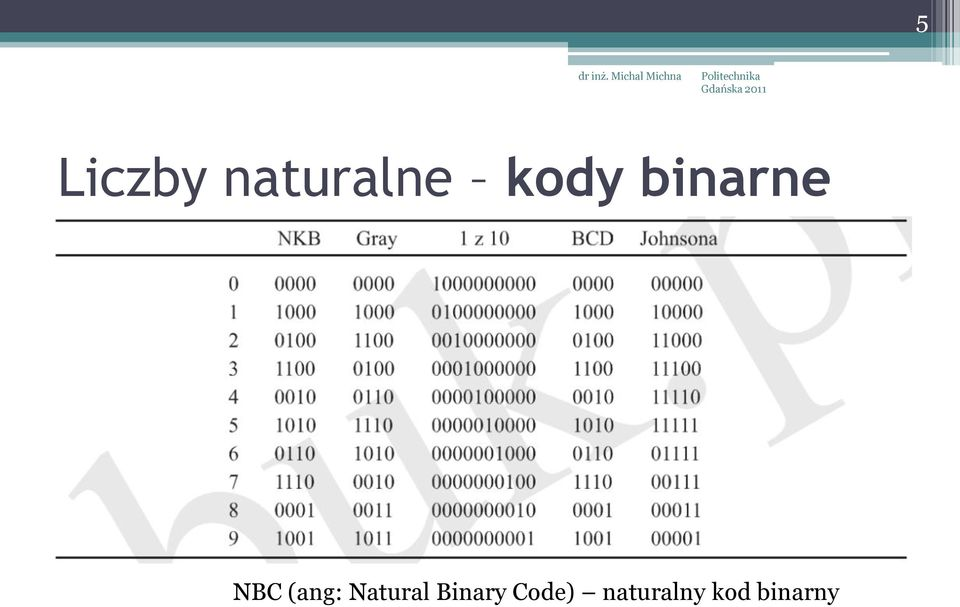 (ang: Natural Binary