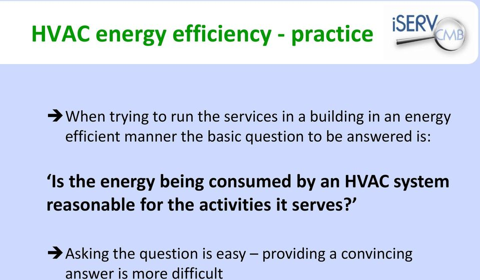 Is the energy being consumed by an HVAC system reasonable for the activities