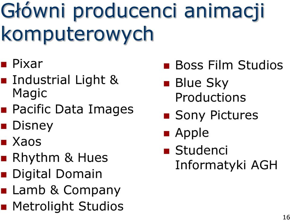 Domain Lamb & Company Metrolight Studios Boss Film Studios Blue