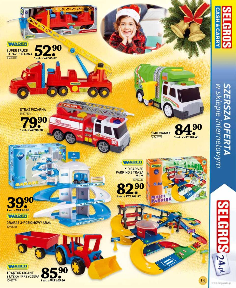08 KID CARS 3D PARKING Z TRASĄ 9,1 M 39212410 82. 90 1 szt. z VAT 101.