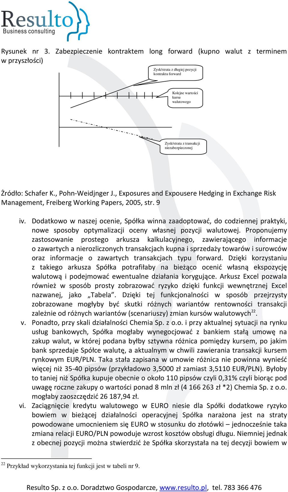 niezabezpieczonej Żródło: Schafer K., Pohn-Weidjnger J., Exposures and Expousere Hedging in Exchange Risk Management, Freiberg Working Papers, 2005, str. 9 iv.