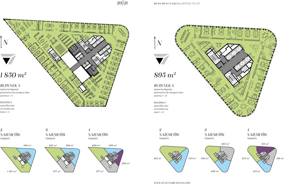 net lettable area levels 2 5 BUILDING A typical floor plan net lettable area levels 7 21 2 3 4 2 3 4 586 m 2 687 m 2 586