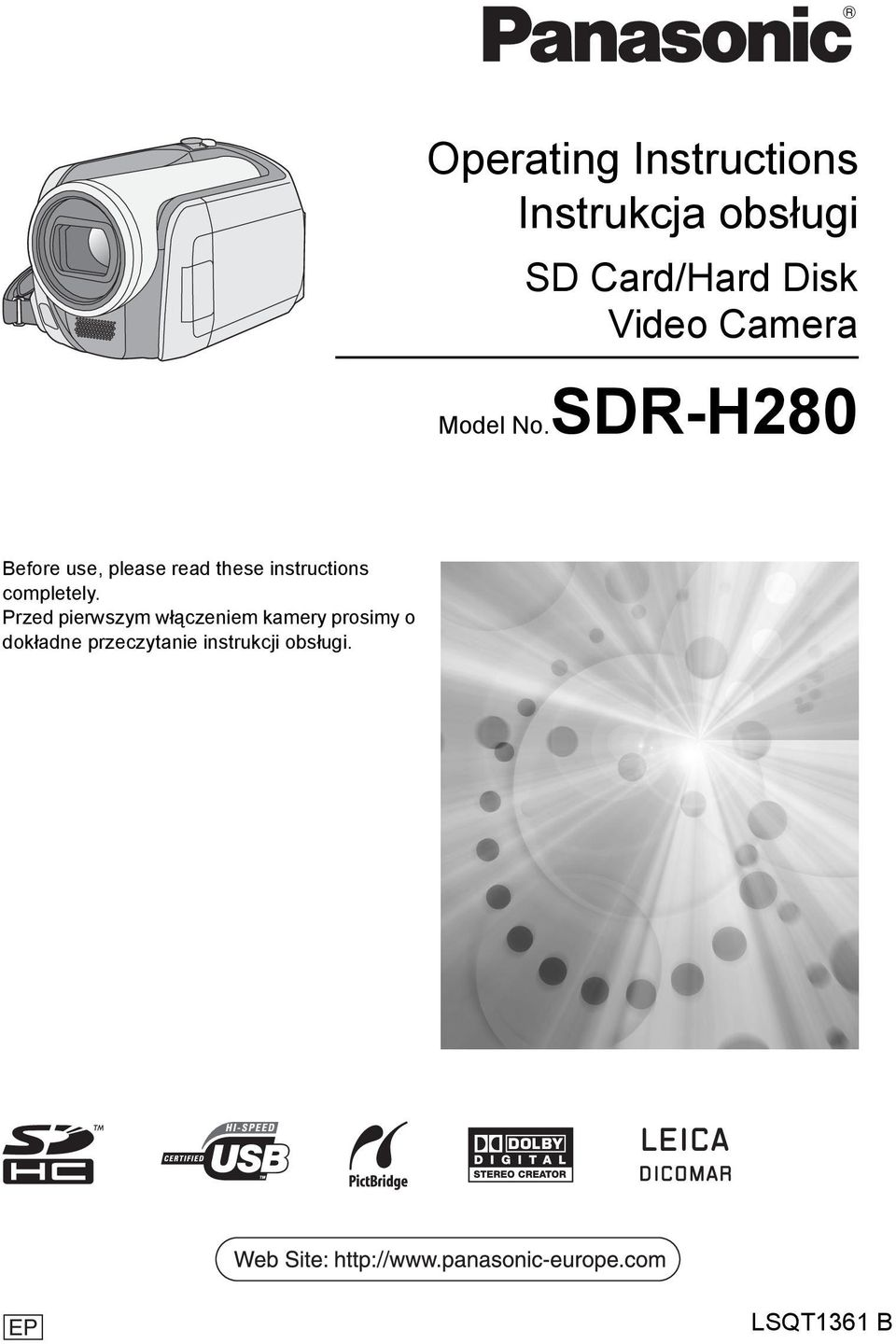 SDR-H280 Before use, please read these instructions